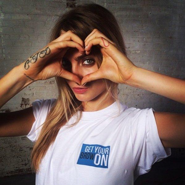 1. Top modelki na Instagramie - Cara Delevingne