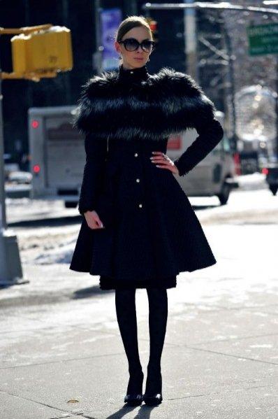 1. Charlize Mystery na New York Fashion Week - stylizacja dzień 1.