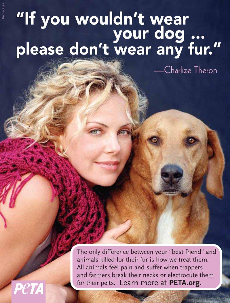 Charlize Theron x PETA: kampania na rzecz praw zwierząt