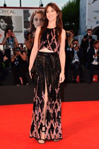 Charlotte Gainsbourg w sukience Louis Vuitton