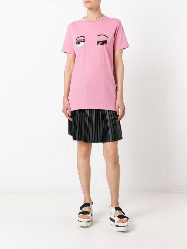 różowy t-shirt Chiara Ferragni, ok. 525 pln