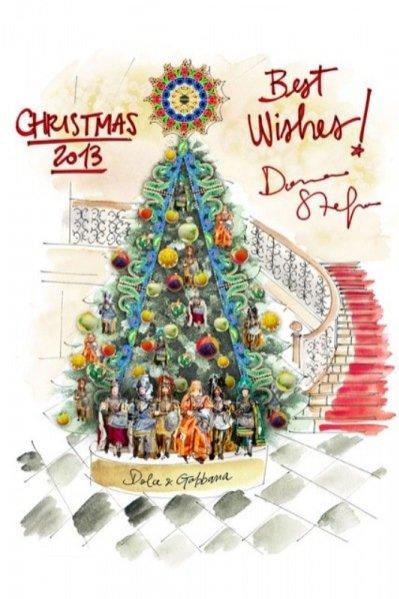 bożonarodzeniowa choinka zaprojektowana przez Dolce&Gabbana dla hotelu Claridge's
