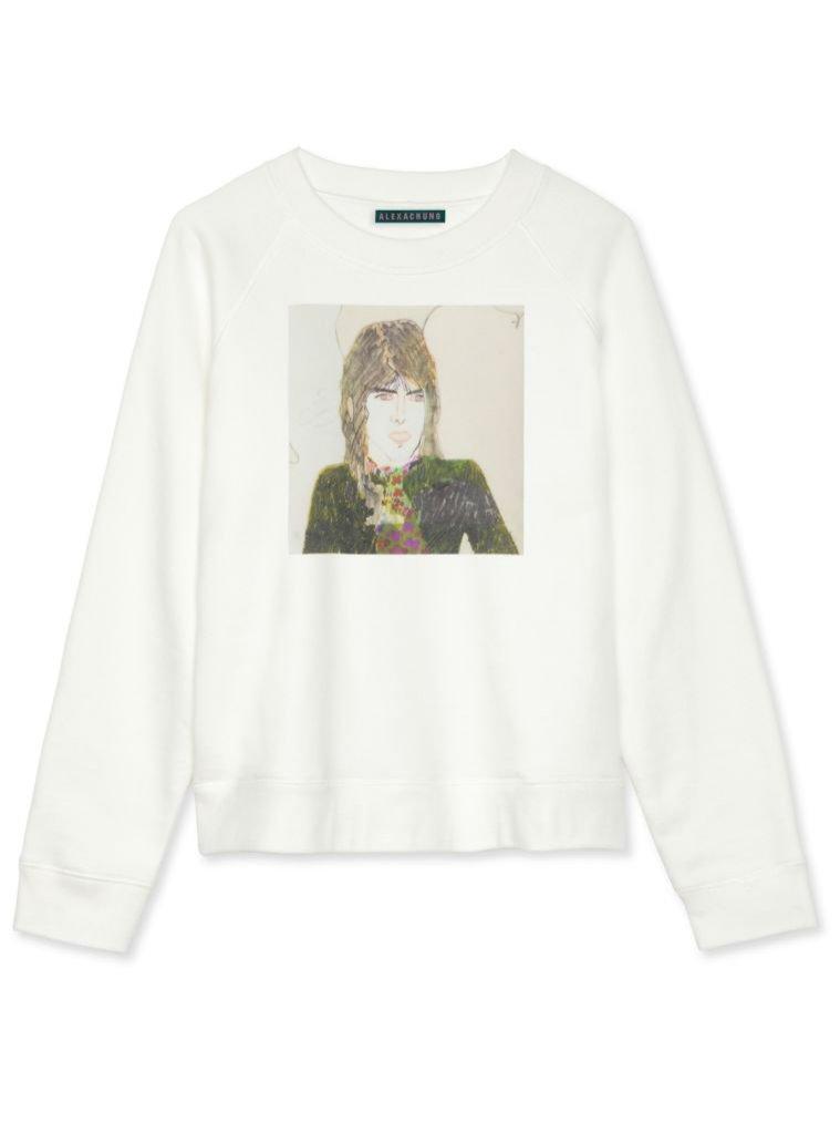 Biała bluza z nadrukiem, Alexachung