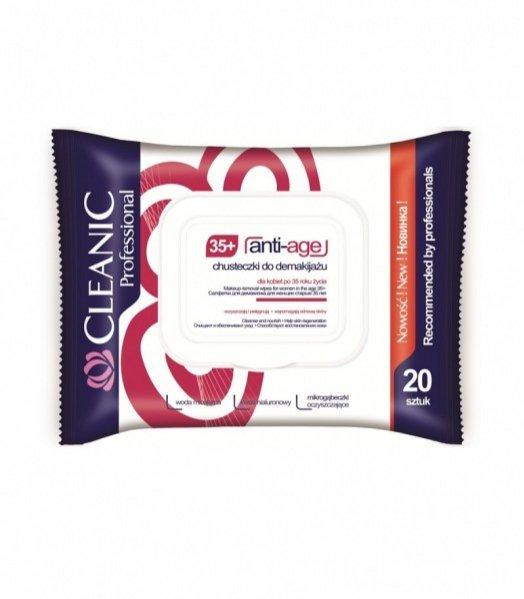 Chusteczki do demakijażu Cleanic Anti-Age, 20 szt., cena: 9.99 PLN