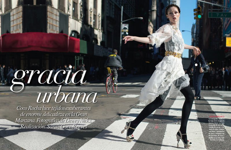 Grazia Urbana - Coco Rocha okiem Dewey'a Nicksa dla grudniowego Vogue Mexico