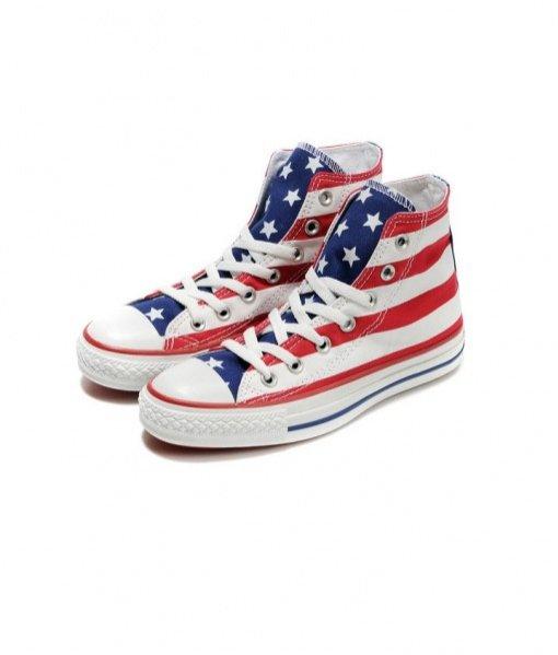 trampki Converse z motywem amerykańskiej flagi