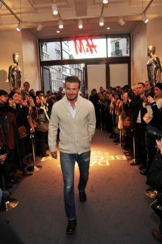 David Beckham na premierze swojej kolekcji bielizny dla H&M w Londynie
