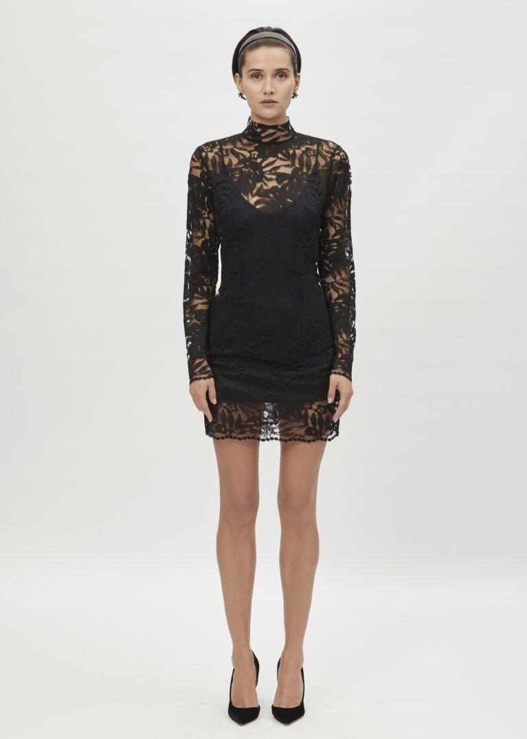 Czarna sukienka mini z koronki, Maciej Zień, 2950 pln