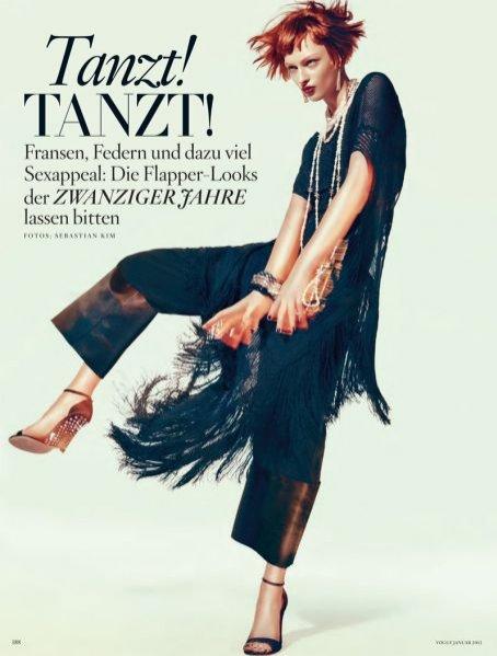 Polska modelka Daga Ziober w sesji dla Vogue Germany Styczeń 2012