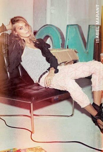 1. Daria Werbowy w kampanii Isabel Marant wiosna/lato 2014