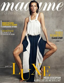 Daria Werbowy dla listopadowego wydania Madame Figaro France