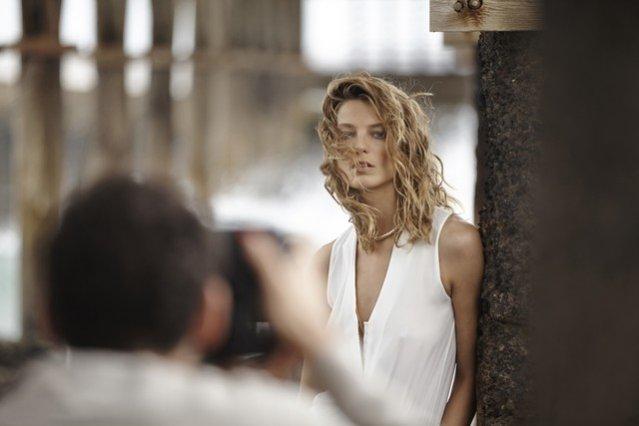 Daria Werbowy w kampanii Mango na Wyspach Kanarysjkich