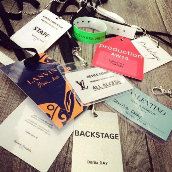 1. Dariia Day w czasie minionych Tygodni Mody pracowała przy pokazach m.in. Louis Vuitton, Lanvin i Valentino w teamie Pat McGrath