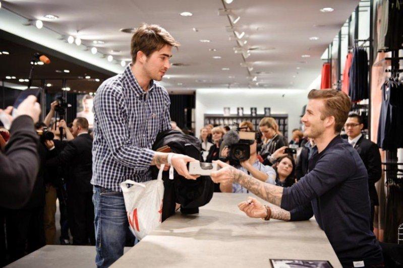 David Beckham dla H&M - spotkanie z fanami w Berlinie