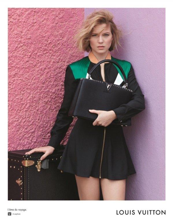 Lea Seydoux w swojej pierwszej kampanii dla Louis Vuitton