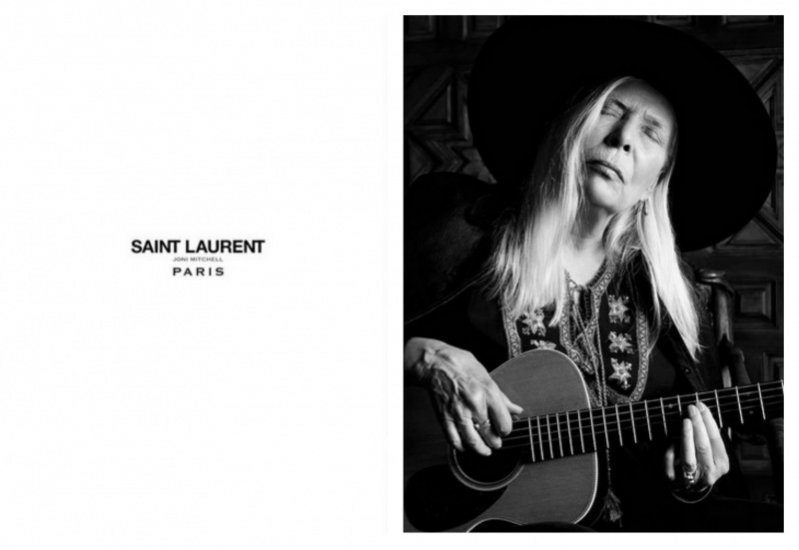 1. Joni Mitchell w kampanii Saint Laurent Paris wiosna lato 2015