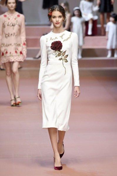 1. Dolce&Gabbana - kolekcja jesień zima 2015/2016