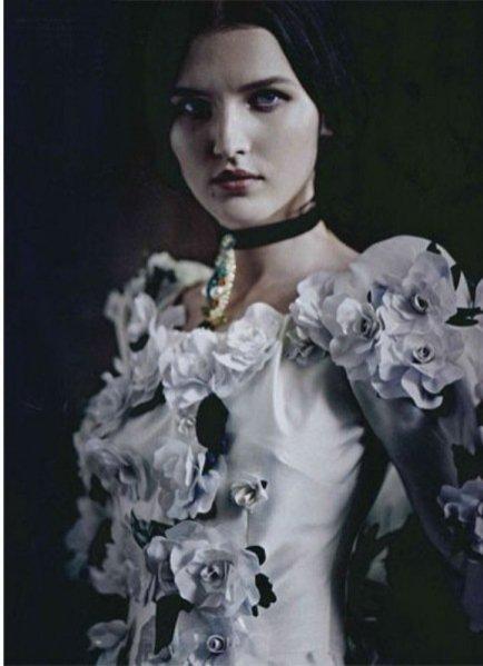 "sesja z dodatku ""Alta Moda"" do Vogue Italia"