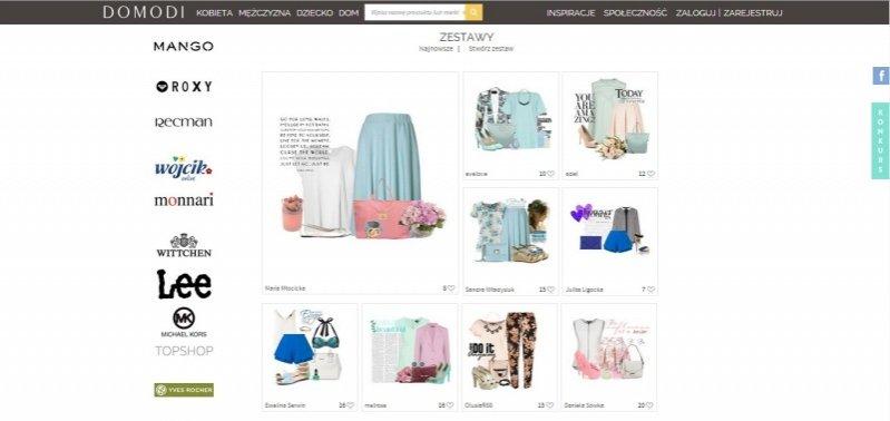 1. Domodi.pl - modne miejsce w sieci