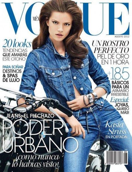Kasia Struss na okładce Vogue Mexico sierpień 2012