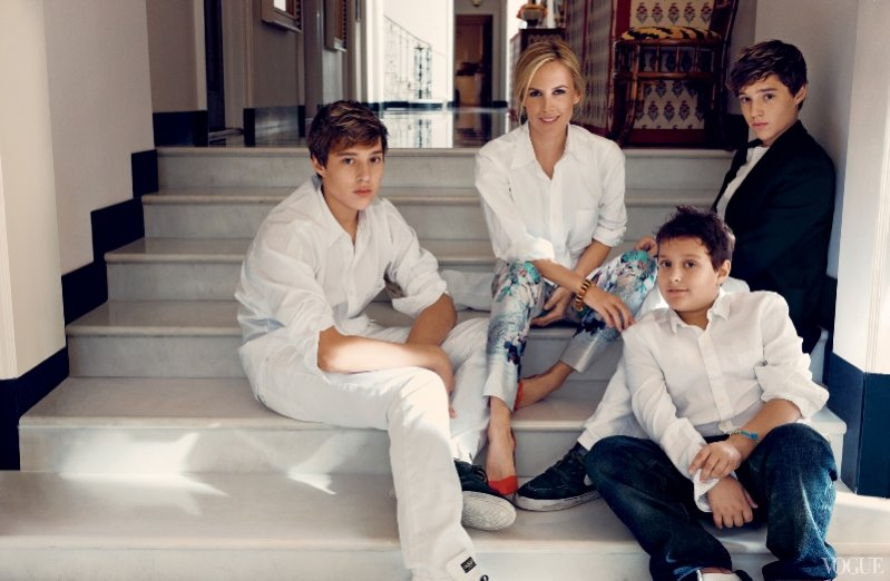 Sawyer Burch, Tory Burch, Henry Burch i Nick Burch