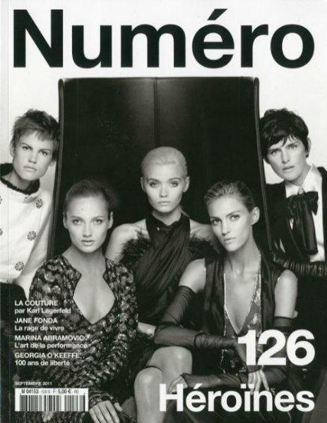 Top modeTop modelki na okładce magazynu Numéro w obiektywie Karla Lagerfelda