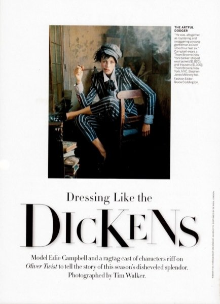 1. Dressing like the Dickens - Vogue US, grudzień 2013