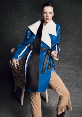 """PORTRAIT OF A LADY"" – EDIE CAMPBELL W SESJI DLA VOGUE PARIS – MARZEC 2014"