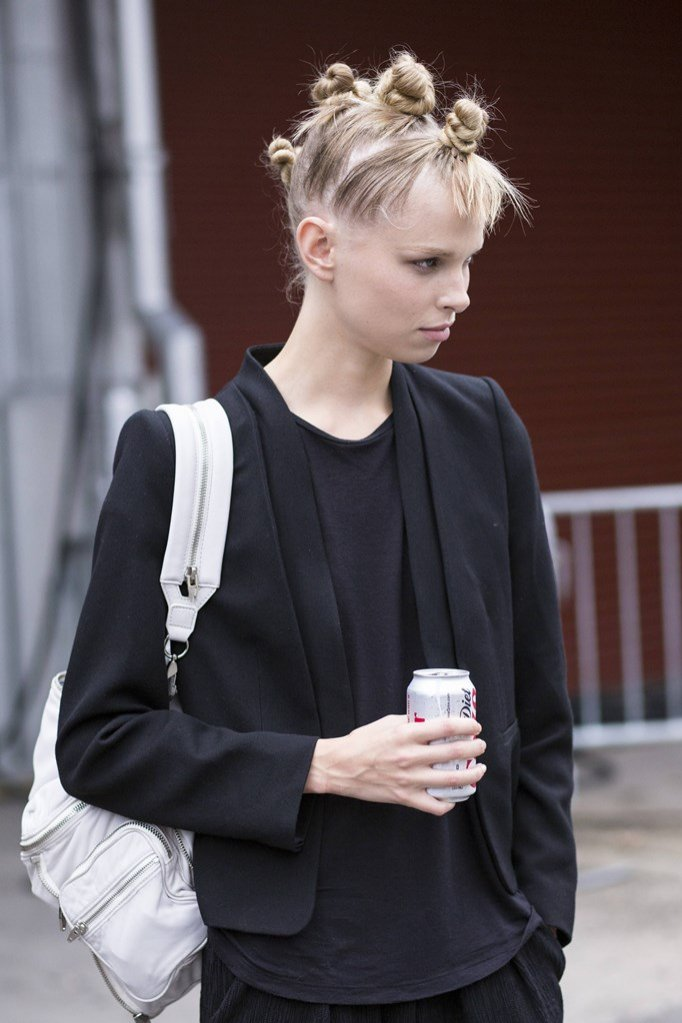 Biały skórzany plecak Alexander Wang