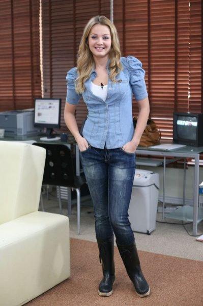 jeansowa koszula w wydaniu Małgosi Sochy