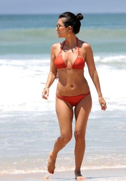 Kourtney Kardashian na plaży w Meksyku