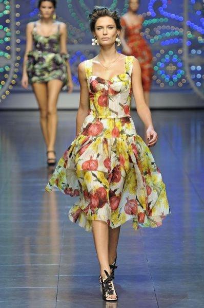 Pokaz kolekcji Dolce&Gabbana wiosna lato 2012