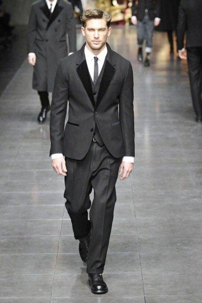Pokaz męskiej kolekcji Dolce&Gabbana jesirn zima 2012/13