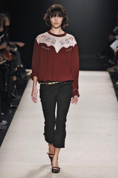 Pokaz kolekcji Isabel Marant jesień zima 2012