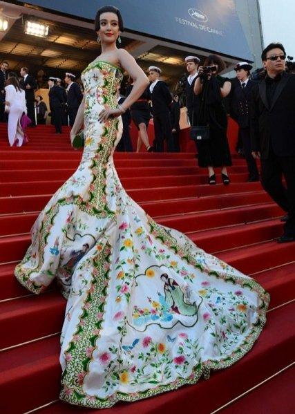 Fan Bing Bing podczas 65. festiwalu filmowego w Cannes 2012