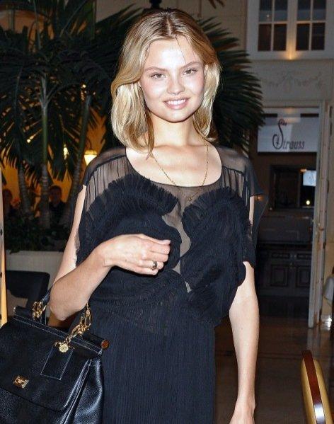 Magda Frąckowiak na pokazie kolekcji Izabeli Łapińskiej