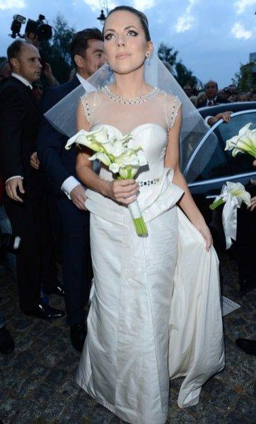 suknia ślubna Oli Kwaśniewskiej autorstwa Sabriny Pilewicz