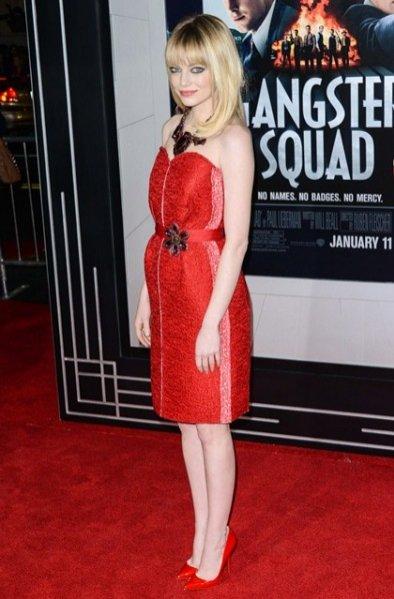 Emma Stone na premierze filmu Gangster Squad. Pogromcy mafii.