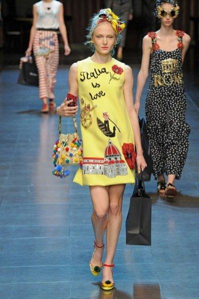 1. Dolce&Gabbana - kolekcja wiosna lato 2016