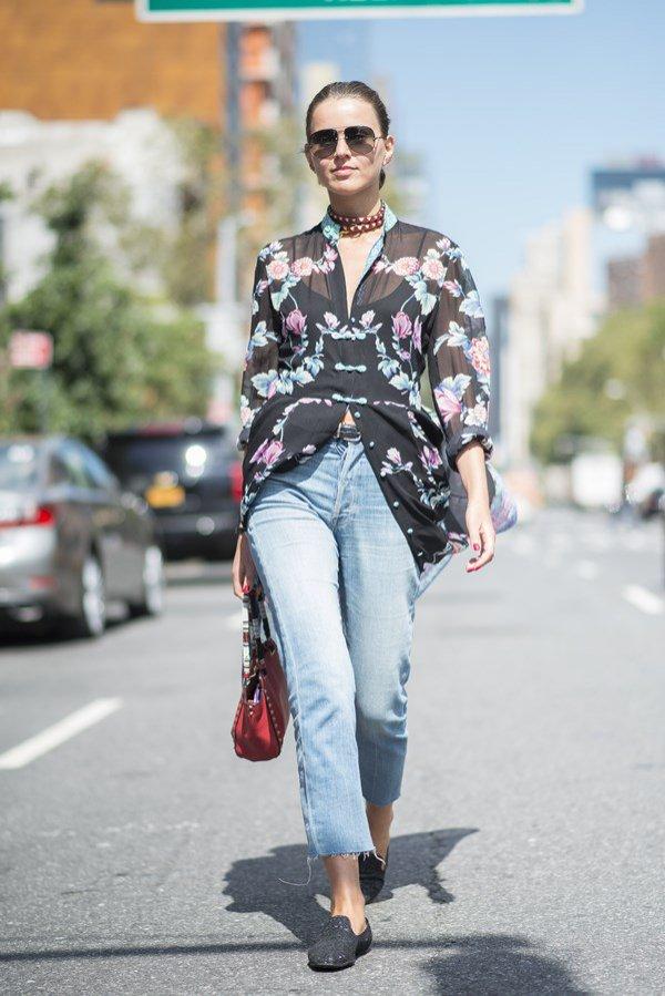 Wzorzyste koszule - moda uliczna