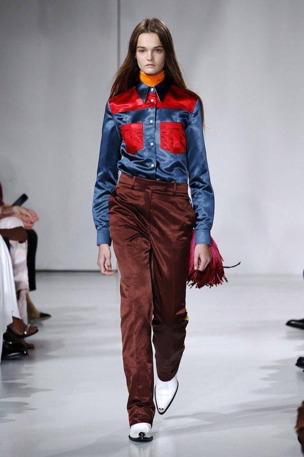 Modne spodnie wiosna lato 2018 - Calvin Klein