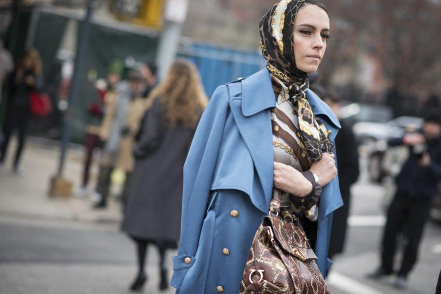 Moda uliczna na London Fashion Week jesień zima 2018/19 - stylizacje (1)