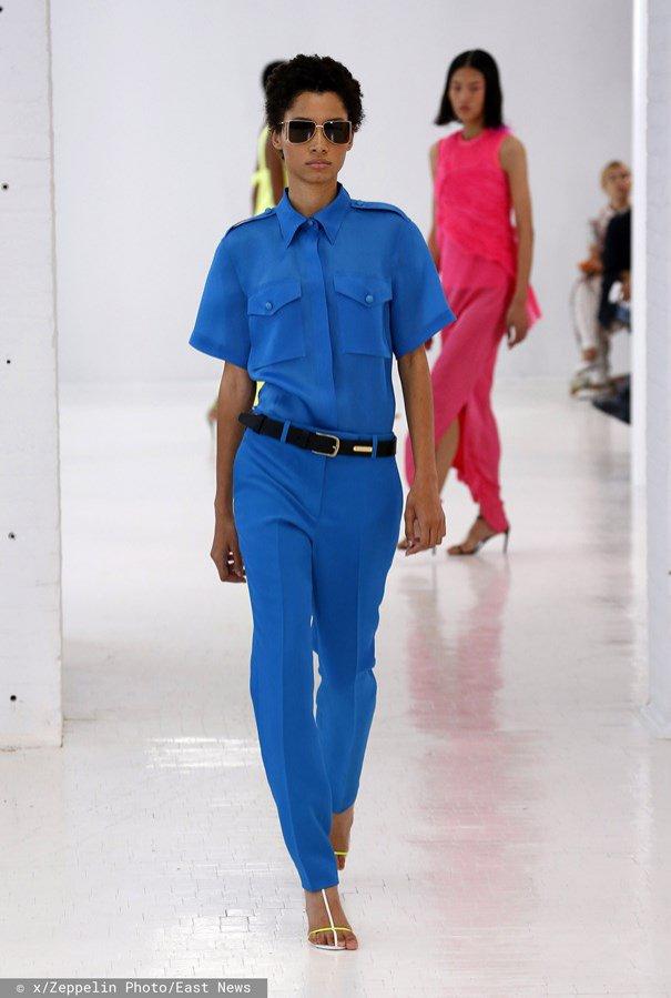Classic Blue: koszula i spodnie, Helmut Lang, wiosna lato 2020