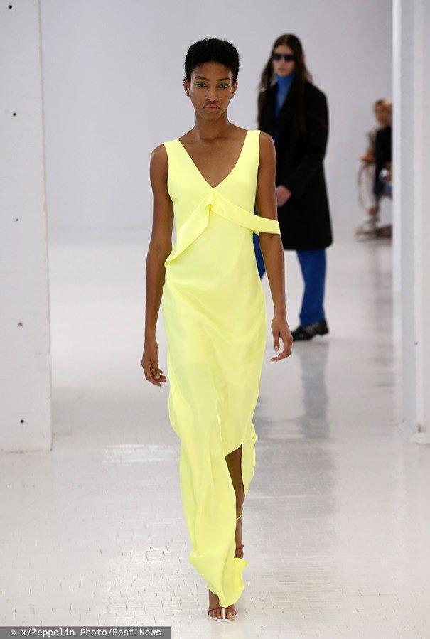 Żółta sukienka - Helmut Lang, wiosna lato 2020
