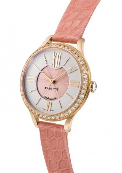 1. Zegarek marki Fabergé z kolekcji Lady Fabergé z różowego złota