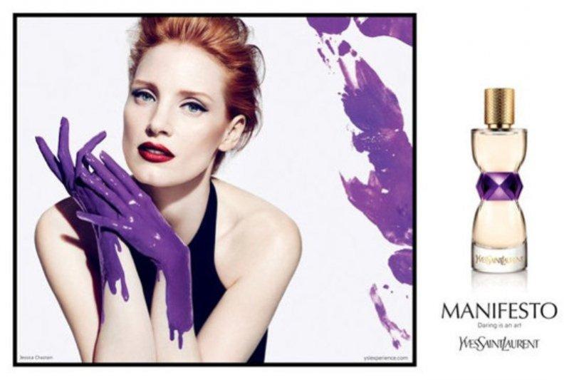 Jessica Chastain w kampanii perfum Manifesto