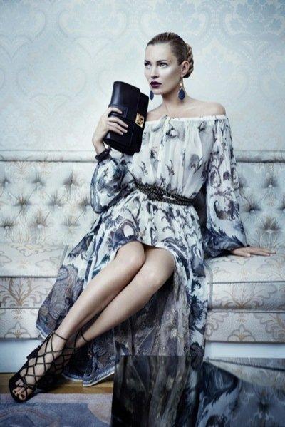 Kate Moss w kampanii Salvatore Ferragamo jesień zima 2012