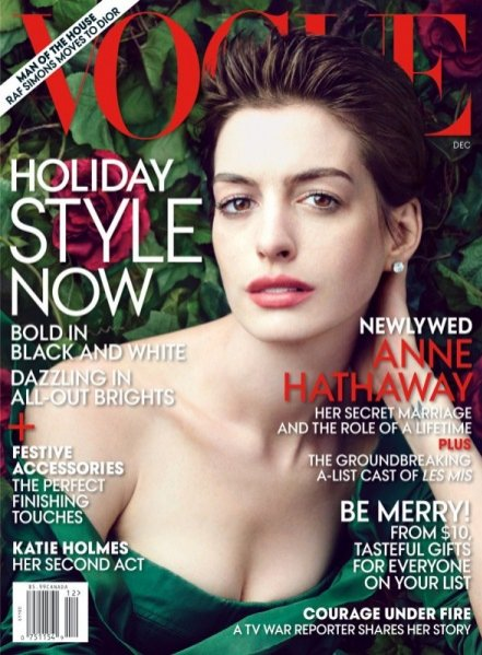 Anne Hathaway w Vogue US