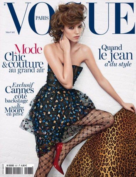 Freja Beha Erichsen na okładce Vogue Paris maj 2013