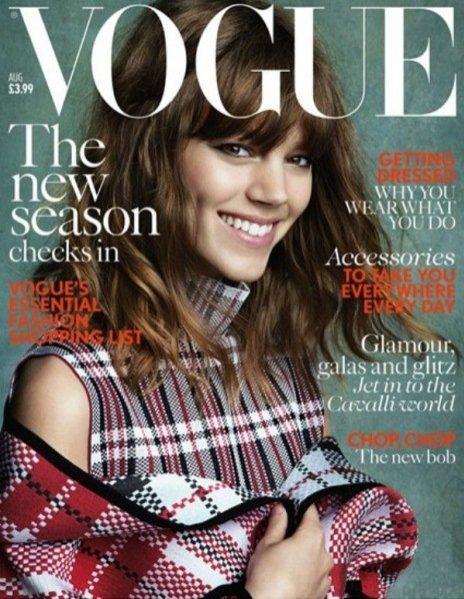 Freja Beha Erichsen w okładkowej sesji dla Vogue UK sierpień 2013